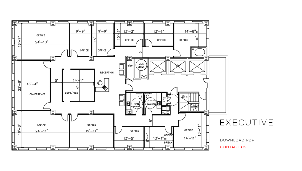 city place office floor plans